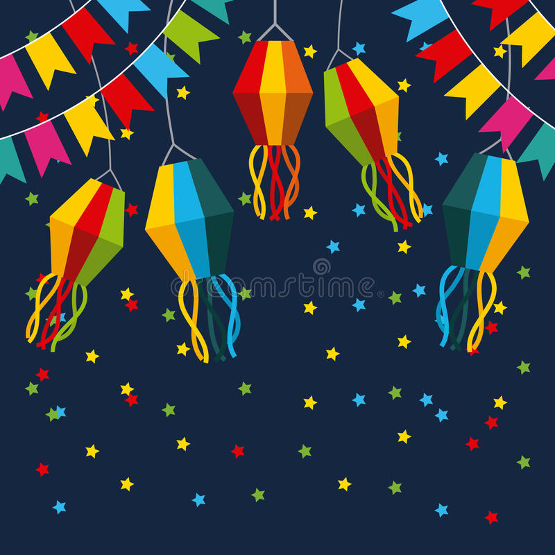 Απεικόνιση Ιουνίου εορτασμού διανυσματική απεικόνιση