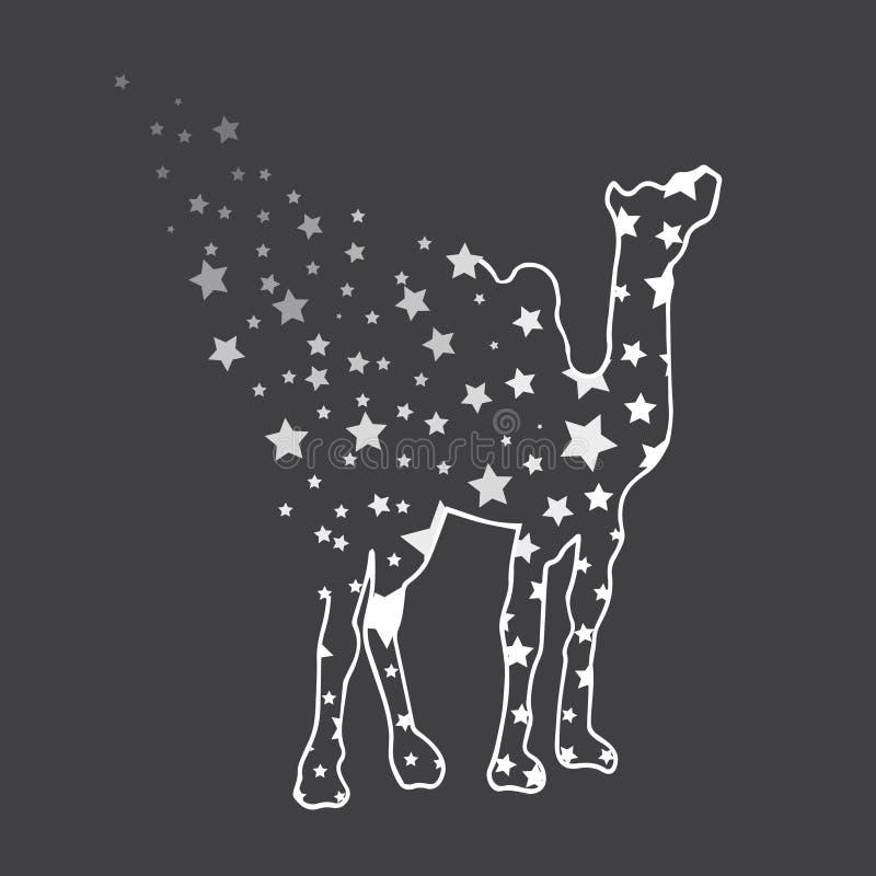 απεικόνιση Καμήλα με τα αστέρια σκίτσο ελεύθερη απεικόνιση δικαιώματος