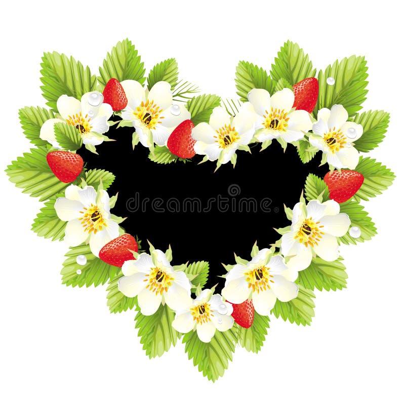 απεικόνιση καρδιών πλαισί&o διανυσματική απεικόνιση