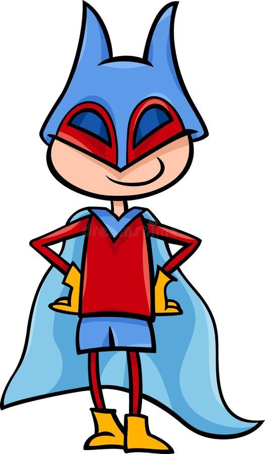 Απεικόνιση κινούμενων σχεδίων αγοριών Superhero διανυσματική απεικόνιση