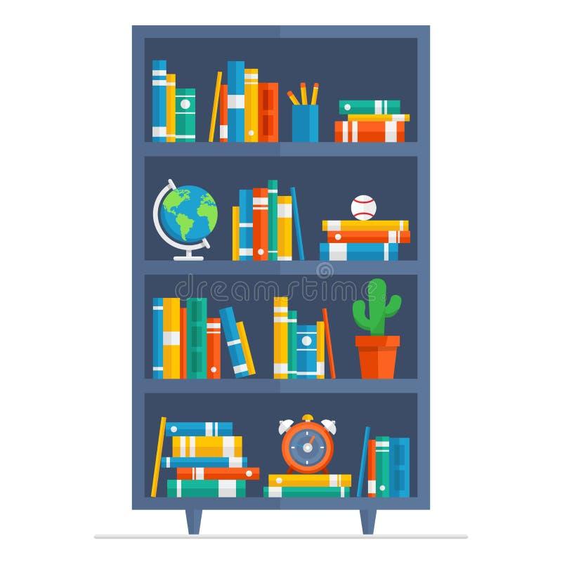 Απεικόνιση κινούμενων σχεδίων βιβλιοθηκών στοκ φωτογραφία