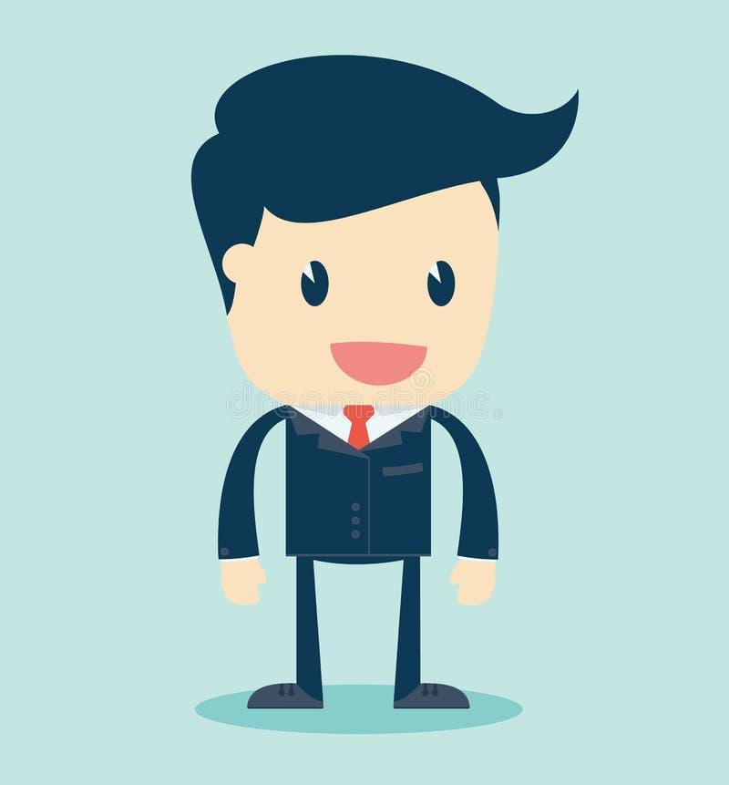 Απεικόνιση κινούμενων σχεδίων ενός μιλώντας επιχειρηματία ελεύθερη απεικόνιση δικαιώματος