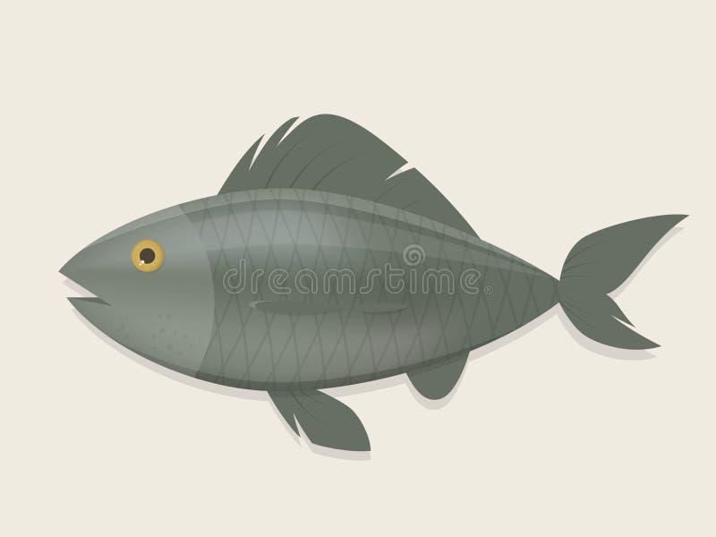 Απεικόνιση κινούμενων σχεδίων ενός ψαριού απεικόνιση αποθεμάτων