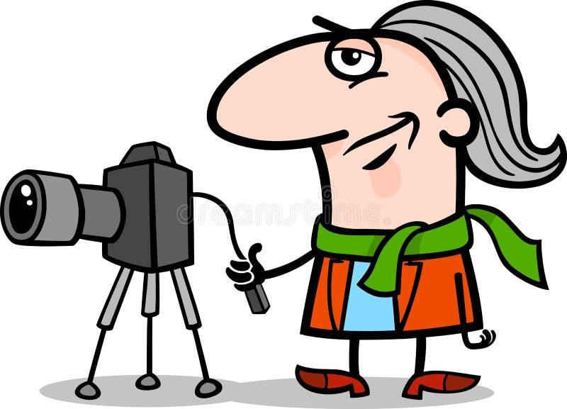 Απεικόνιση κινούμενων σχεδίων καλλιτεχνών φωτογράφων ελεύθερη απεικόνιση δικαιώματος