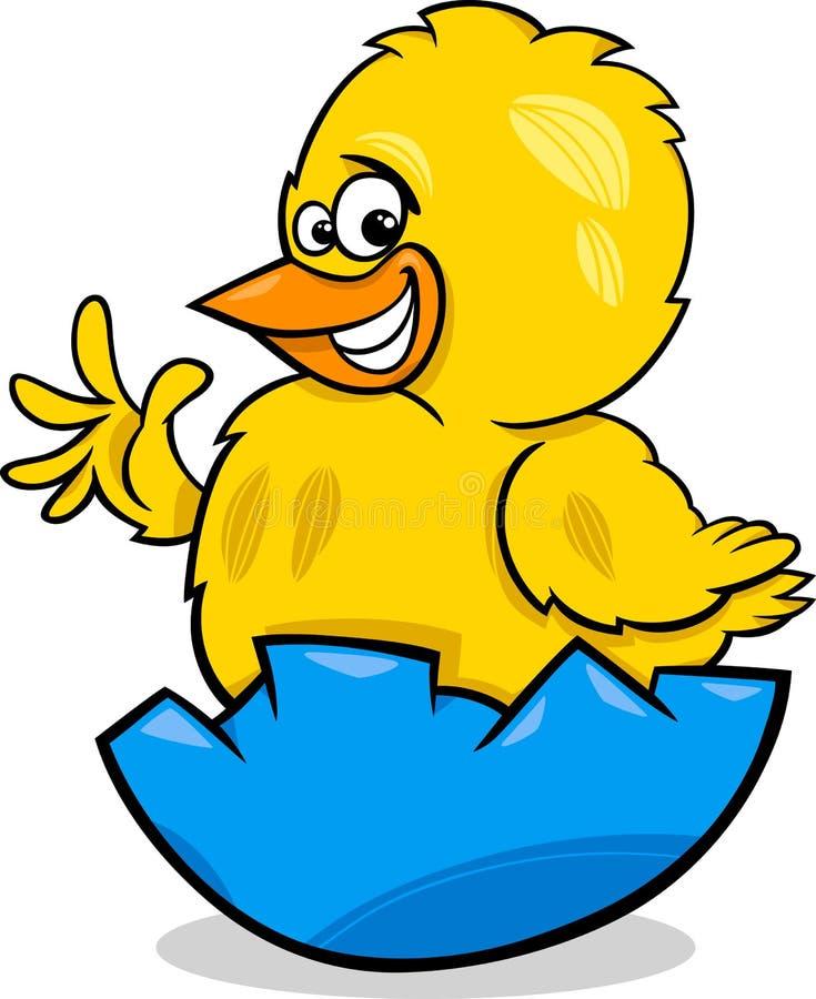 Απεικόνιση κινούμενων σχεδίων κοτόπουλου Πάσχας διανυσματική απεικόνιση