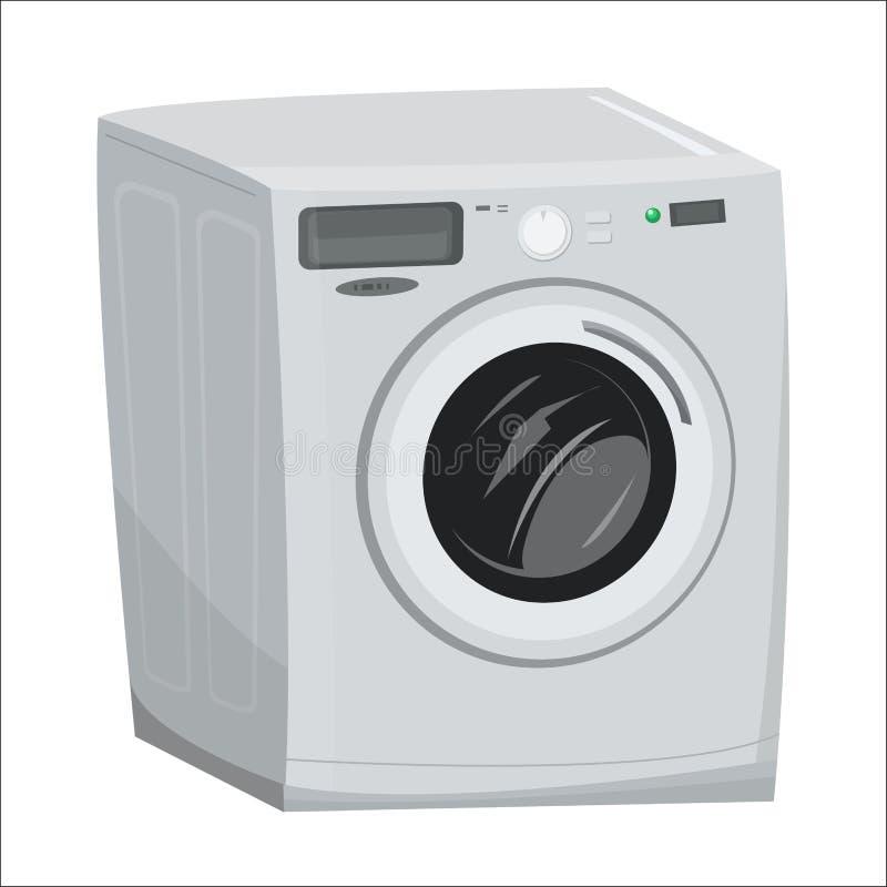 Απεικόνιση κινούμενων σχεδίων πλυντηρίων πλυντηρίων διανυσματική απεικόνιση