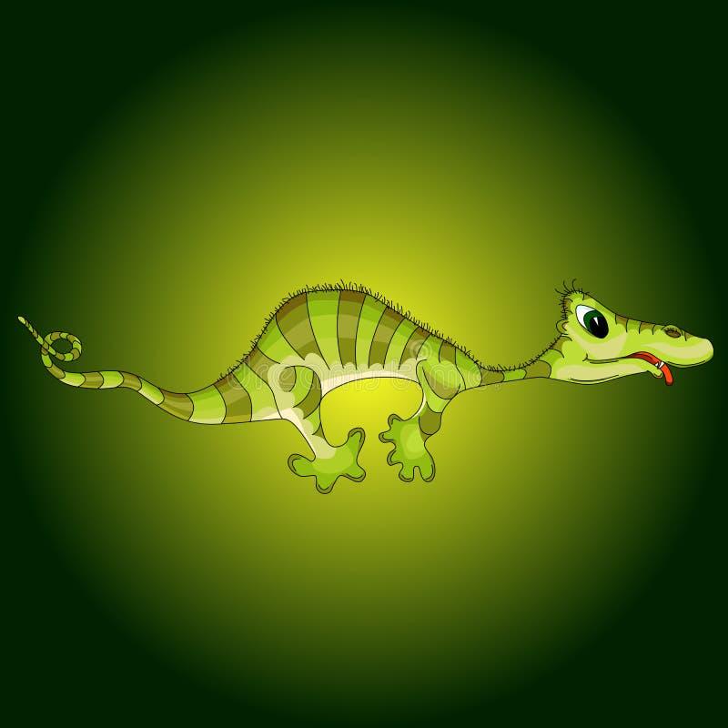 Απεικόνιση κινούμενων σχεδίων του πράσινου τέρατος απεικόνιση αποθεμάτων