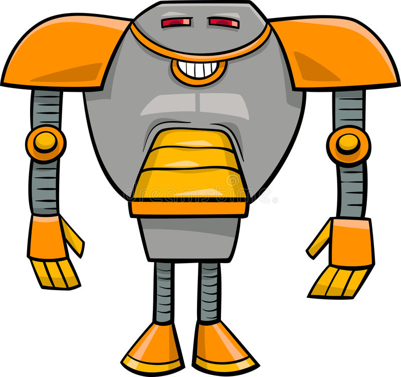 Απεικόνιση κινούμενων σχεδίων χαρακτήρα ρομπότ διανυσματική απεικόνιση