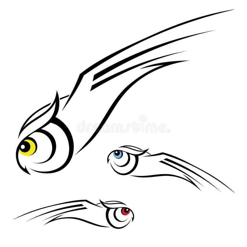 Απεικόνιση κουκουβαγιών απεικόνιση αποθεμάτων