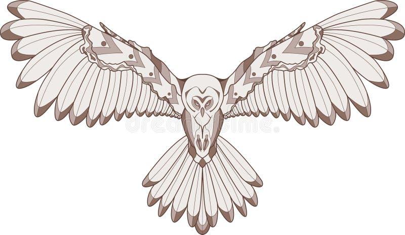 Απεικόνιση κουκουβαγιών ελεύθερη απεικόνιση δικαιώματος