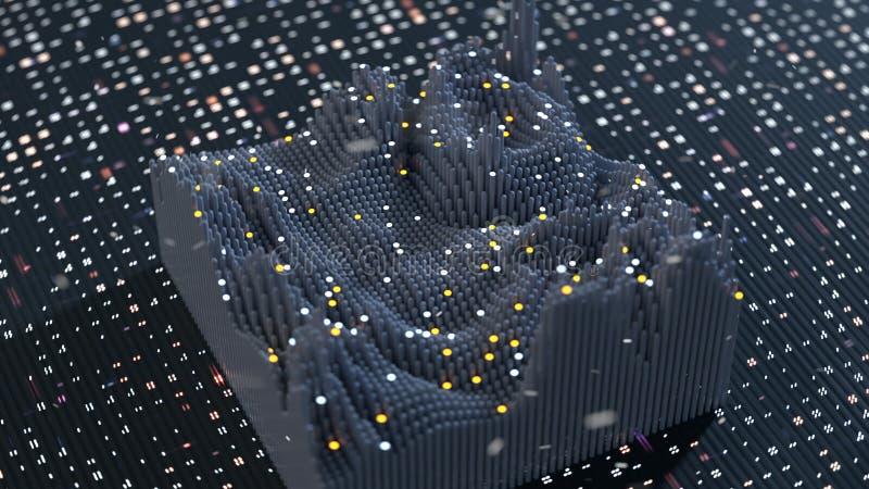 Απεικόνιση κυματοειδούς συνάρτησης 3D απεικόνιση αποθεμάτων