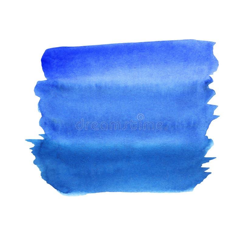Απεικόνιση μιας κλίσης watercolor μπλε και σκούρο μπλε σε ένα άσπρο υπόβαθρο απεικόνιση αποθεμάτων