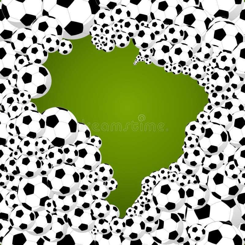 απεικόνιση μορφής χωρών πρωταθλήματος παγκόσμιου ποδοσφαίρου της Βραζιλίας του 2014 απεικόνιση αποθεμάτων