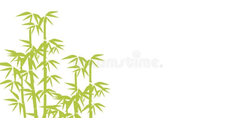 Απεικόνιση μπαμπού Το σχέδιο για τις τυπωμένες ύλες, η ασιατική SPA και το μασάζ, καλλυντικά συσκευάζουν, υλικά απεικόνιση αποθεμάτων