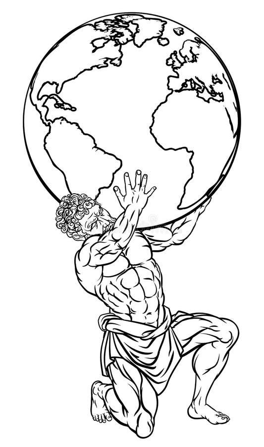 Απεικόνιση μυθολογίας ατλάντων απεικόνιση αποθεμάτων