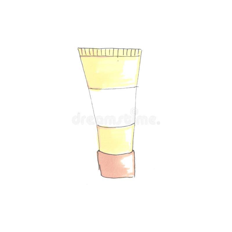 Απεικόνιση μόδας του σωλήνα διανυσματική απεικόνιση
