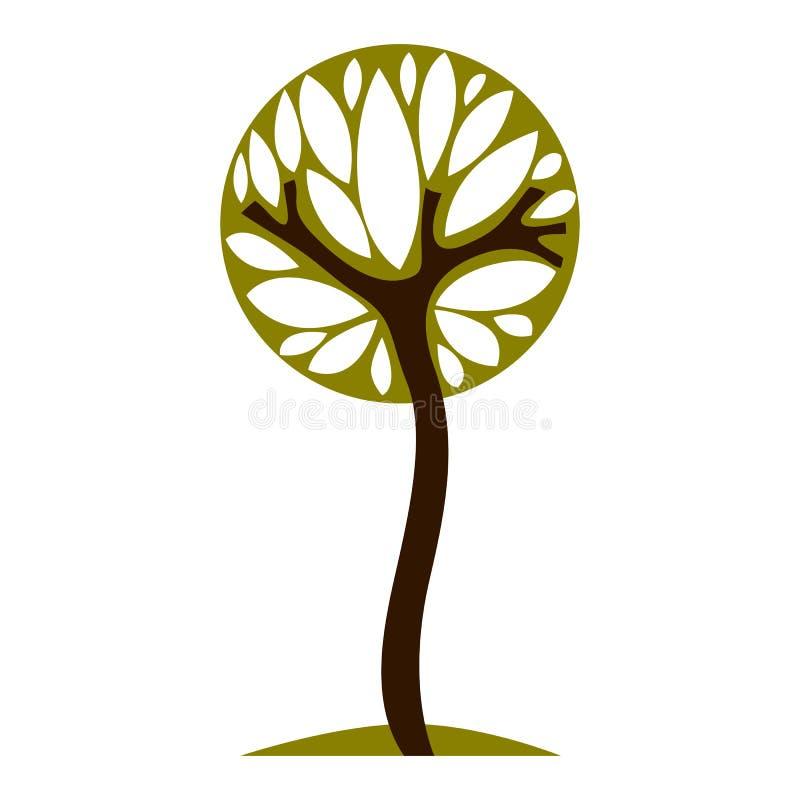 Απεικόνιση νεράιδων τέχνης του δέντρου, τυποποιημένο σύμβολο eco Διορατικότητα vec διανυσματική απεικόνιση