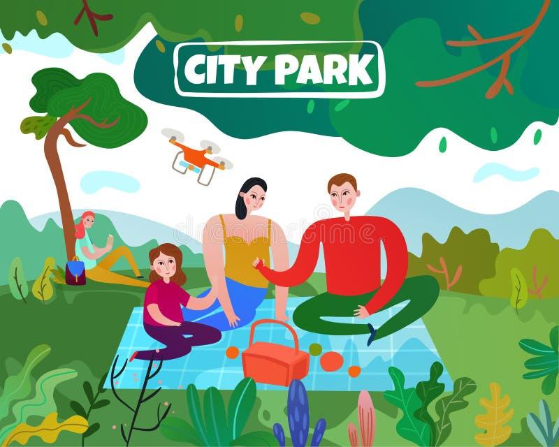 Απεικόνιση πάρκων πόλεων ελεύθερη απεικόνιση δικαιώματος