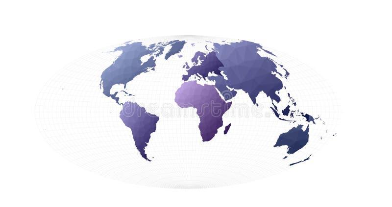 Απεικόνιση παγκόσμιων χαρτών ελεύθερη απεικόνιση δικαιώματος