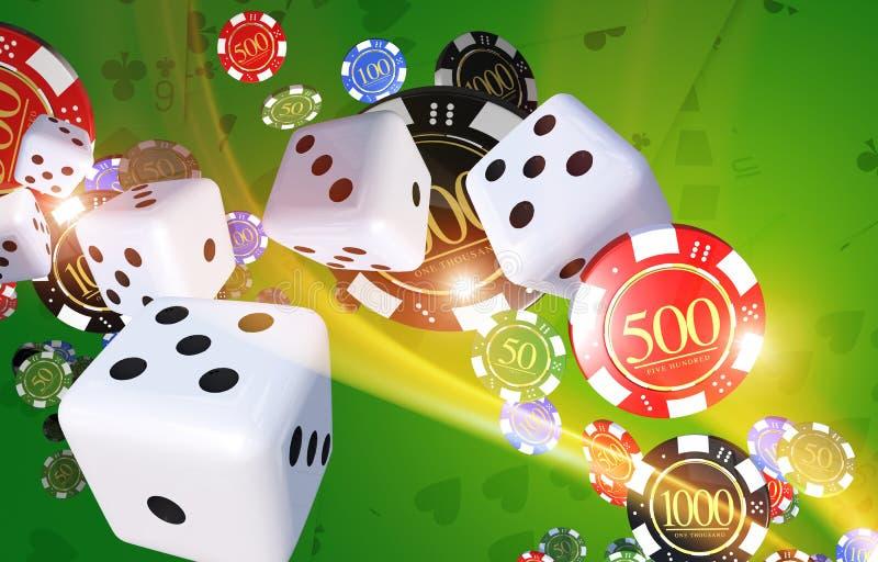 Απεικόνιση παιχνιδιών χαρτοπαικτικών λεσχών διανυσματική απεικόνιση