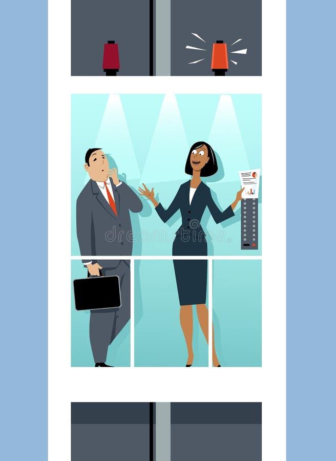 Απεικόνιση πισσών ανελκυστήρων διανυσματική απεικόνιση