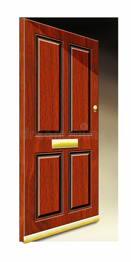 απεικόνιση πορτών ανοικτή στοκ εικόνες με δικαίωμα ελεύθερης χρήσης