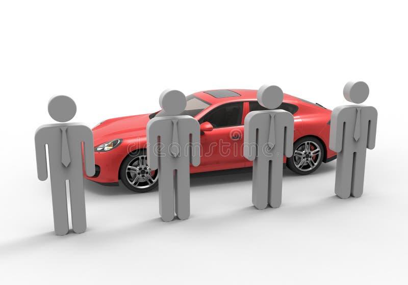 Απεικόνιση πωλητών αυτοκινήτων ελεύθερη απεικόνιση δικαιώματος