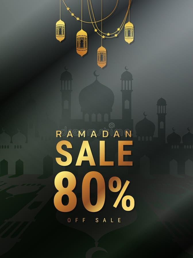 Απεικόνιση πώλησης Ramadan Μουσουλμανικός εορτασμός θρησκείας σχέδιο σύγχρονο διανυσματική απεικόνιση