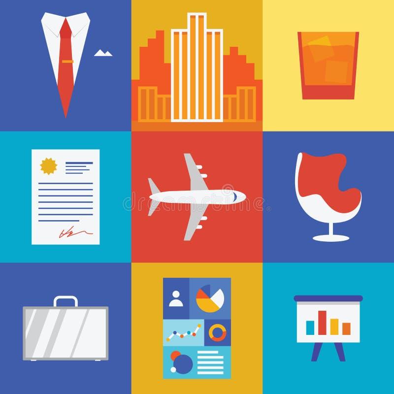 Απεικόνιση πλούτου και επιχειρήσεων διανυσματική απεικόνιση