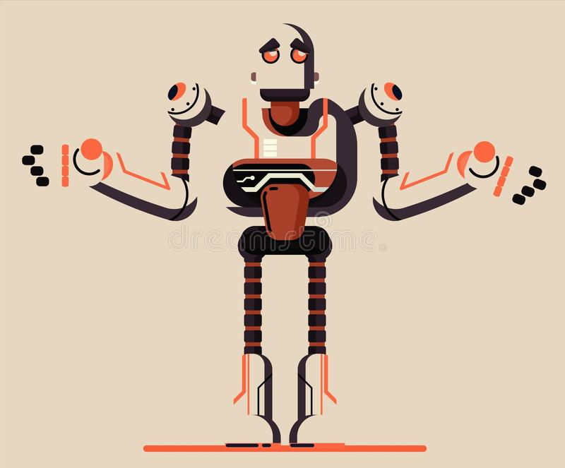 Απεικόνιση ρομπότ γραφική διανυσματική απεικόνιση