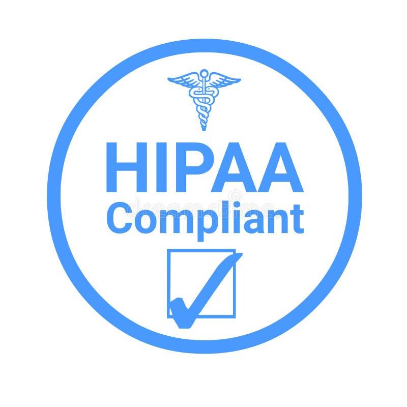 Απεικόνιση σημαδιών συμμόρφωσης Hipaa ελεύθερη απεικόνιση δικαιώματος