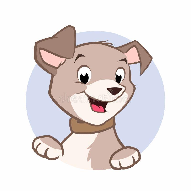 απεικόνιση σκυλιών σχεδίου κινούμενων σχεδίων ανασκόπησης απεικόνιση αποθεμάτων