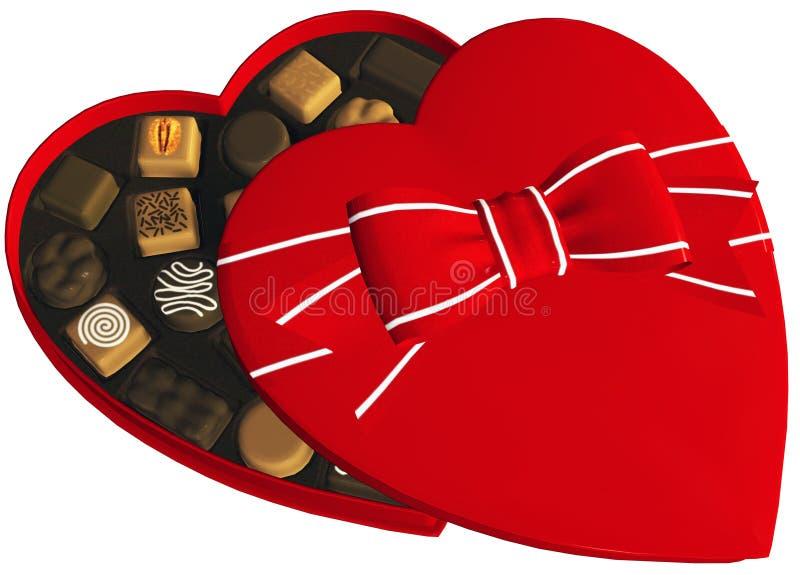 Απεικόνιση σοκολάτας καραμελών βαλεντίνων που απομονώνεται απεικόνιση αποθεμάτων