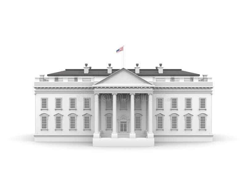 απεικόνιση σπιτιών που καθίσταται άσπρη διανυσματική απεικόνιση