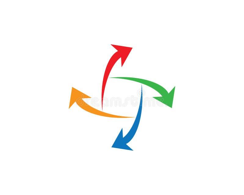 Απεικόνιση συμβόλων βελών απεικόνιση αποθεμάτων