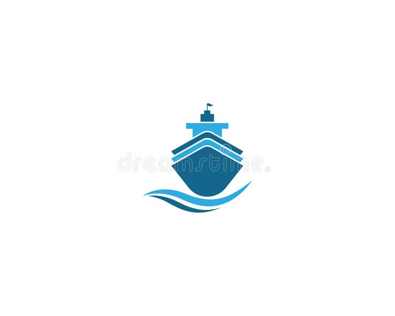 Απεικόνιση συμβόλων κρουαζιερόπλοιων ελεύθερη απεικόνιση δικαιώματος