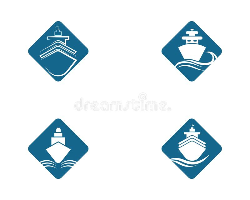 Απεικόνιση συμβόλων κρουαζιερόπλοιων διανυσματική απεικόνιση