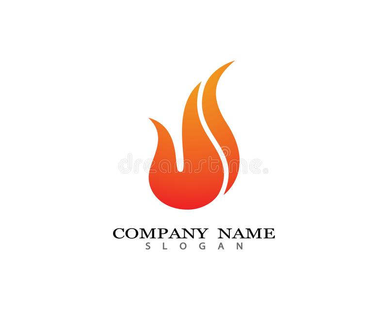 Απεικόνιση συμβόλων πυρκαγιάς διανυσματική απεικόνιση