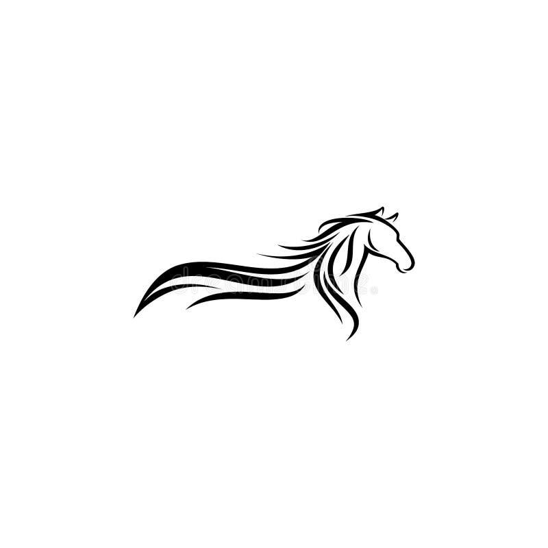 Απεικόνιση σχεδίου λογότυπων αλόγων, διάνυσμα σκιαγραφιών αλόγων, διανυσματική απεικόνιση αλόγων απεικόνιση αποθεμάτων