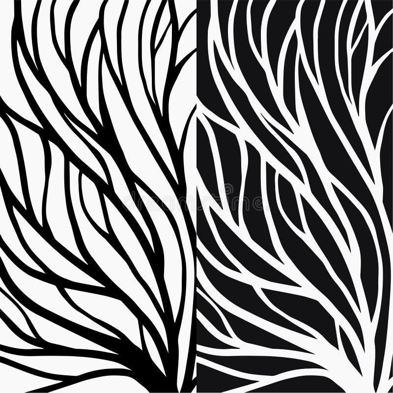 Απεικόνιση σχεδίων ρίζας για το κλωστοϋφαντουργικό προϊόν και την εκτύπωση ελεύθερη απεικόνιση δικαιώματος