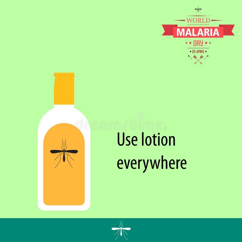 Απεικόνιση 06 σχεδίου κινούμενων σχεδίων ημέρας παγκόσμιας ελονοσίας απεικόνιση αποθεμάτων
