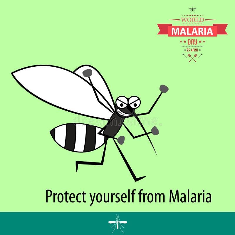 Απεικόνιση 10 σχεδίου κινούμενων σχεδίων ημέρας παγκόσμιας ελονοσίας απεικόνιση αποθεμάτων