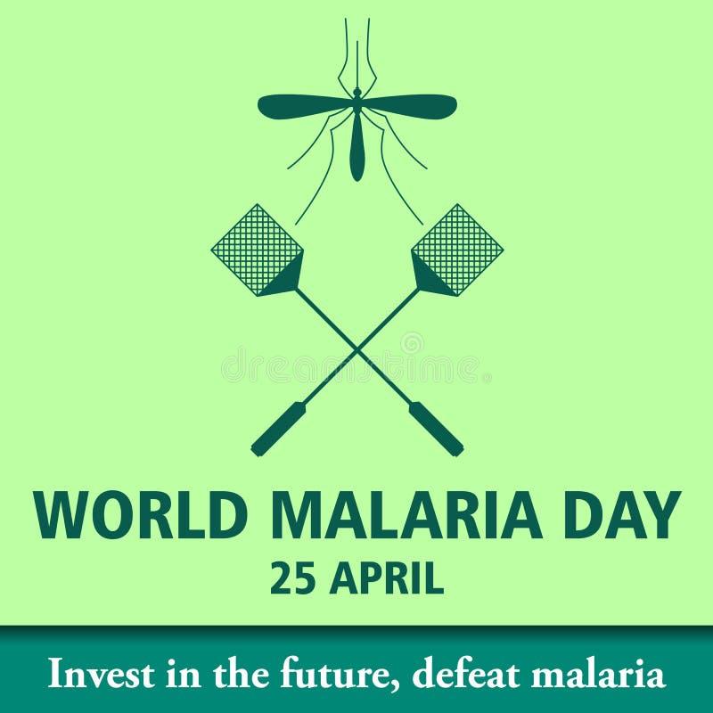 Απεικόνιση 12 σχεδίου κινούμενων σχεδίων ημέρας παγκόσμιας ελονοσίας απεικόνιση αποθεμάτων