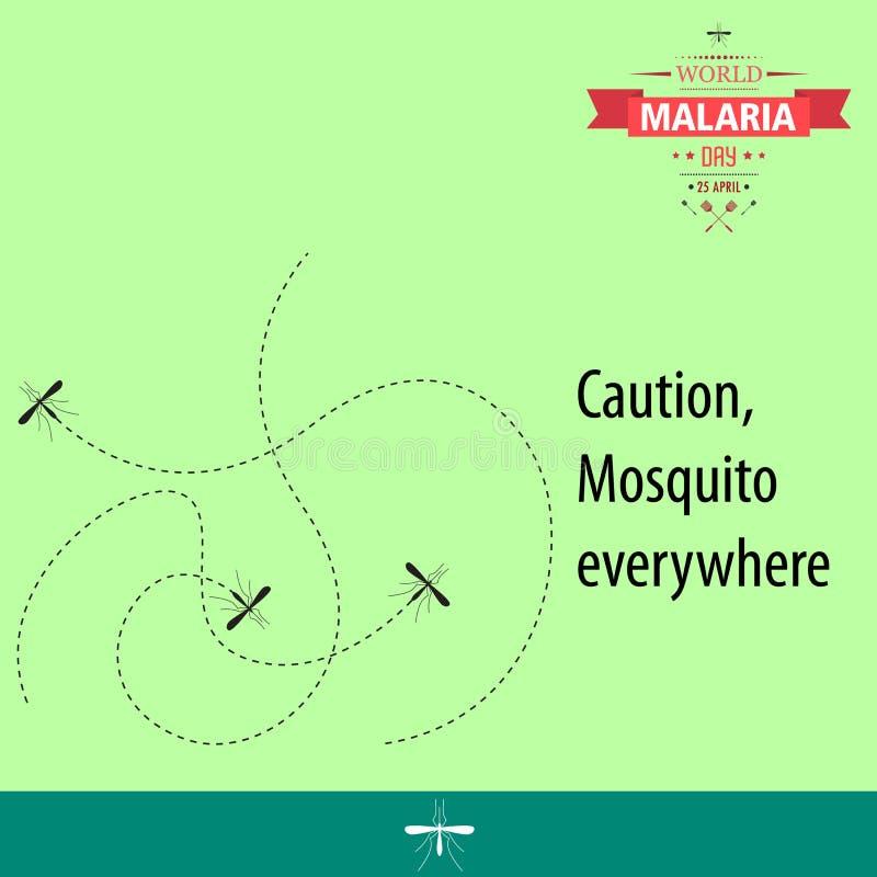 Απεικόνιση 02 σχεδίου κινούμενων σχεδίων ημέρας παγκόσμιας ελονοσίας ελεύθερη απεικόνιση δικαιώματος