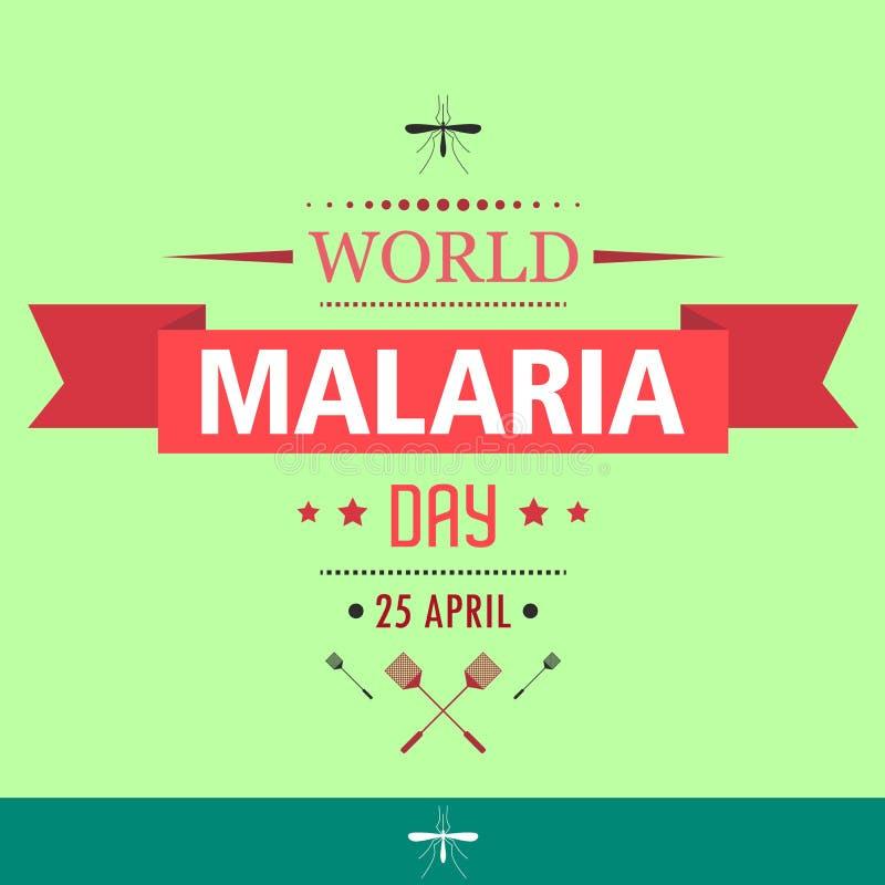 Απεικόνιση 01 σχεδίου κινούμενων σχεδίων ημέρας παγκόσμιας ελονοσίας διανυσματική απεικόνιση