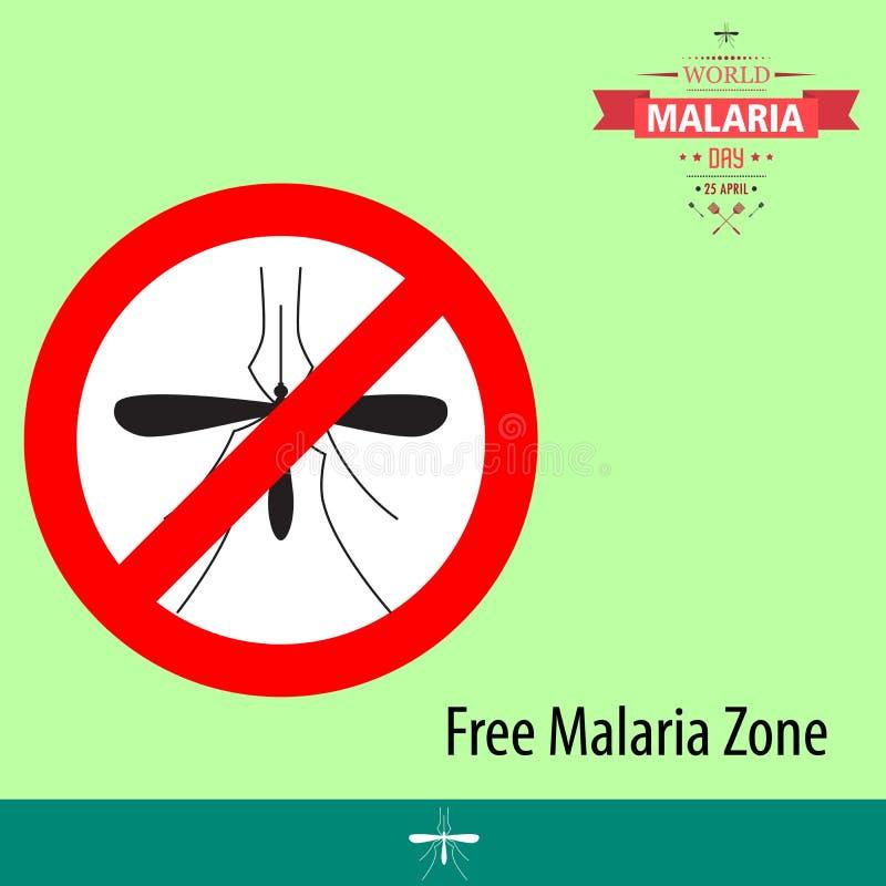 Απεικόνιση 03 σχεδίου κινούμενων σχεδίων ημέρας παγκόσμιας ελονοσίας απεικόνιση αποθεμάτων