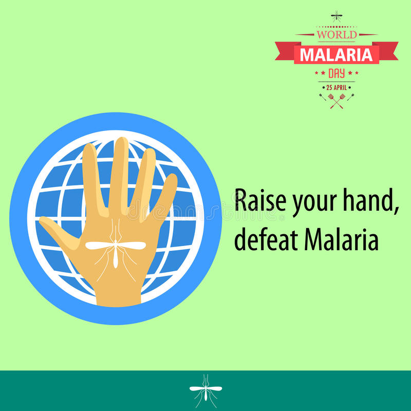 Απεικόνιση 04 σχεδίου κινούμενων σχεδίων ημέρας παγκόσμιας ελονοσίας απεικόνιση αποθεμάτων