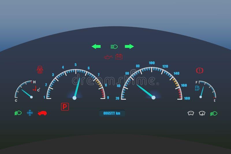 Απεικόνιση ταμπλό αυτοκινήτων απεικόνιση αποθεμάτων
