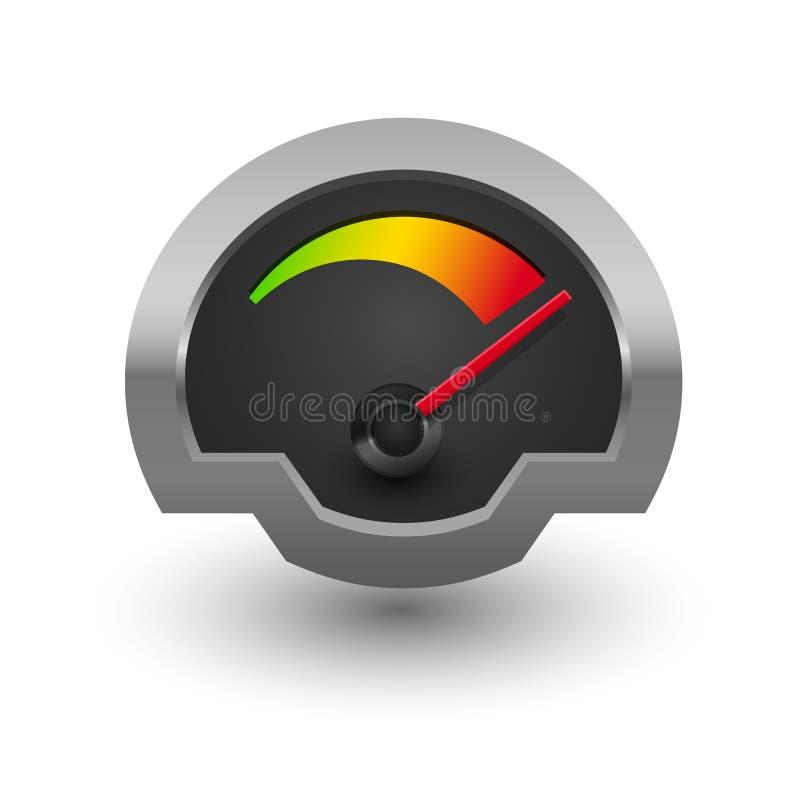 Απεικόνιση ταχυμέτρων χρωμίου. διανυσματική απεικόνιση