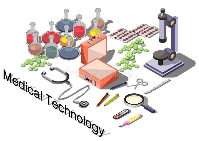 Απεικόνιση της γραφικής ιατρικής έννοιας πληροφοριών απεικόνιση αποθεμάτων
